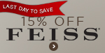 Save 15% on the ENTIRE FEISS LINE! Hurry... Sale Ends December 16!