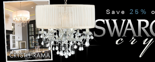 Save 20% on SWAROVSKI CRYSTAL FIXTURES by CRYSTORAMA!