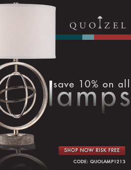 Save 10% on ALL QUOIZEL Lamps!