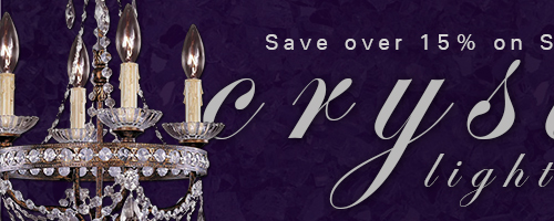 Save OVER 15% on SAVOY HOUSE CRYSTAL LIGHTING! Coupon Code: SAVCRYST1213