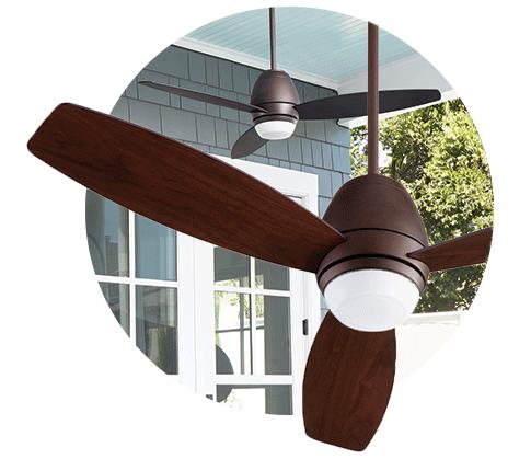Bronx Indoor Ceiling Fan from Quorum