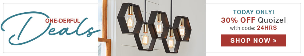 TODAY ONLY! 30% Off Quoizel Lighting | with code: 24HRS
