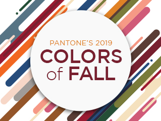 Pantone's 2019 Colors of Fall are Here!