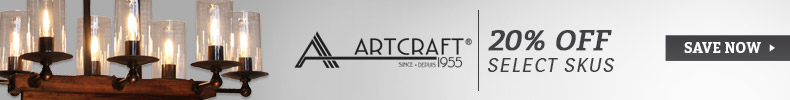 Artcraft Lighting | 20% Off Select SKUs