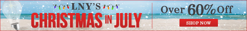 Save OVER 60% During LNY's Christmas in July!