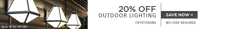 Crystorama | 20% OFF Outdoor Lighting | No Code Required