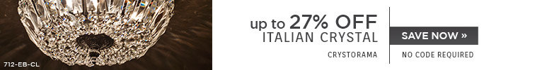 Crystorama | Up To 27% OFF Italian Crystal | no code required
