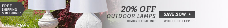 Dimond Lighting | 20% OFF Outdoor Lamps