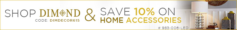 Shop DIMOND & Save 10% on Home Accessories!