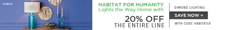 Habitat for Humanity Lights the Way Home with Dimond Lighting | 20% Off the Entire Line | With Code: HABITAT19