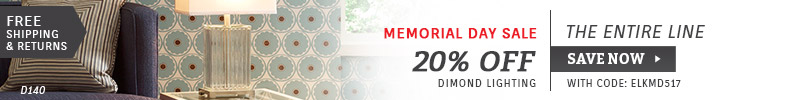 Dimond Lighting | Memorial Day Sale | 20% Off the Entire Line