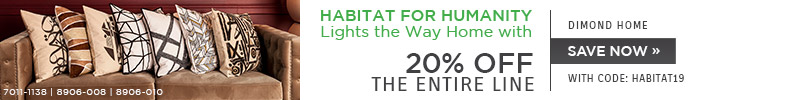 Habitat for Humanity Lights the Way Home with Dimond Home | 20% Off the Entire Line | With Code: HABITAT19 | Save Now