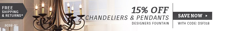 Designers Fountain | 15% OFF Chandeliers & Pendants