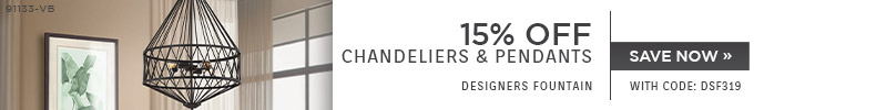 Designers Fountain | 15% OFF Chandeliers & Pendants | with code: DSF319 | Save Now
