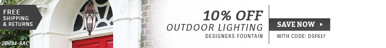 Designers Fountain | 10% Off Outdoor Lighting