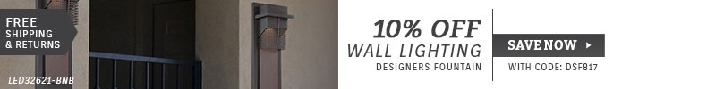 Designers Fountain | 10% Off Wall Lighting