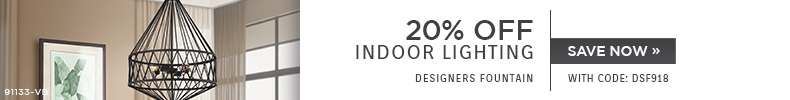 Designers Fountain | 20% OFF Indoor Lighting | with code: DSF918