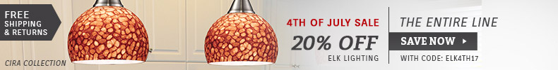ELK Lighting | 4th of July Sale | 20% Off the Entire Line
