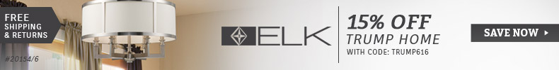 ELK Lighting | Trump Home Sale | 15% Off