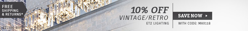 ET2 | 10% OFF Vintage & Retro Lighting