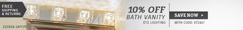 ET2 Lighting | 10% Off Bath Lighting
