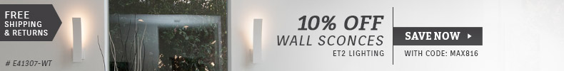ET2 Contemporary Lighting | 10% Off Wall Sconces