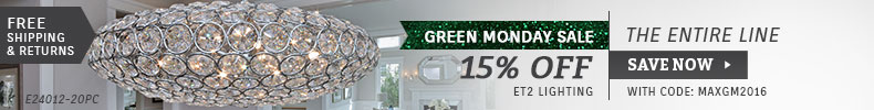 ET2 Lighting | Green Monday Sale | 15% Off the Entire Line