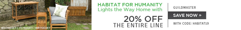 Habitat for Humanity Lights the Way Home with Guild Master | 20% Off the Entire Line | With Code: HABITAT19 | Save Now