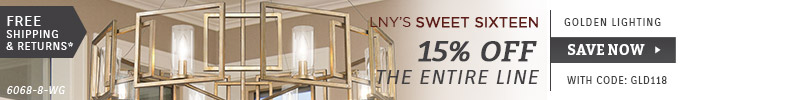 Golden Lighting | LNY'S Sweet Sixteen | 15% OFF The Entire Line