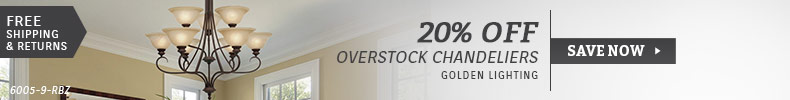 Golden Lighting | 20% Off Overstock Chandeliers