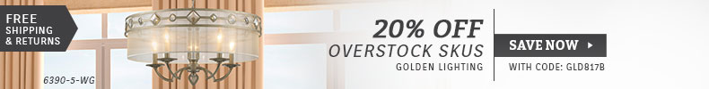 Golden Lighting | 20% Off Overstock SKUs