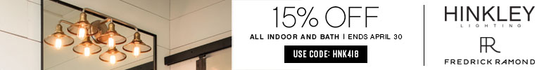 Fredrick Ramond | 15% OFF All Indoor & Bath Lighting