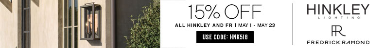 Hinkley Lighting & Fredrick Ramond | 15% OFF The Entire Line