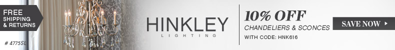 Hinkley Lighting | 10% Off Chandeliers & Sconces