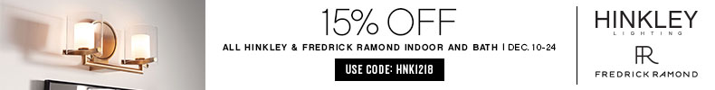 Hinkley & Fredrick Ramond | 15% OFF Indoor & Bath | with code: HNK1218