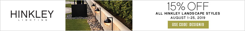 15% Off All Hinkley Landscape Styles | August 1 - 25, 2019 | Use Code: DESIGN19 | Hinkley Lighting