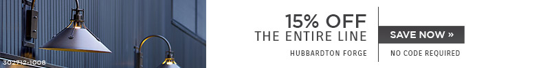 Hubbardton Forge | 15% OFF The Entire Line | no code required