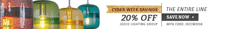 Jesco Lighting | 20% Off Entire Line