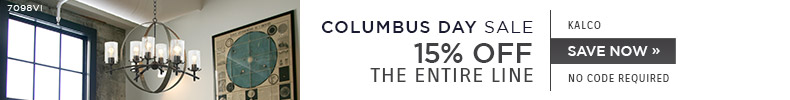Columbus Day Sale | Kalco | 15% Off the Entire Line | No Code Required | Save Now
