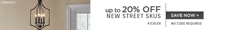 Kichler | Up To 20% OFF New Street Skus