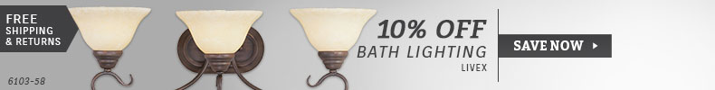 Livex | 10% Off Bath Lighting