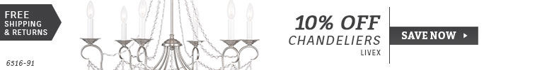 Livex | 10% Off Chandeliers