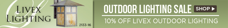 10% OFF Outdoor Lighting by LIVEX!