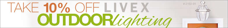 Take 10% Off LIVEX Outdoor Lighting!