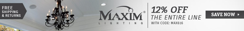 Maxim Lighting | 12% Off the Entire Line