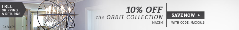 Maxim Lighting | 10% Off the Orbit Collection