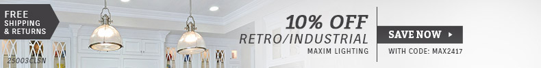 Maxim Lighting | 10% Off Retro/Industrial Collections