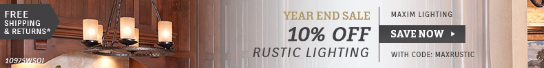 Maxim Lighting | 10% OFF Rustic Lighting