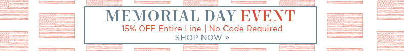 Memorial Day Event | 15% OFF The Entire Line