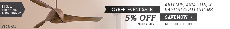 Minka-Aire | Cyber Event Sale | 5% OFF Artemis, Aviation, & Raptor Collections